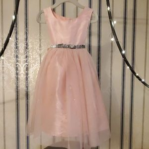 Cherokee Light Pink Tulle Sparkle Dress